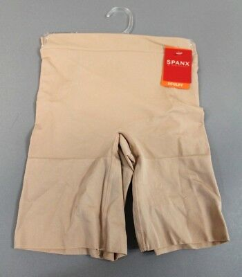 b26746a47d Spanx Women s OnCore Mid-Thigh Sculpt Shorts SS6615 BF5 Soft Nude Small  Petite