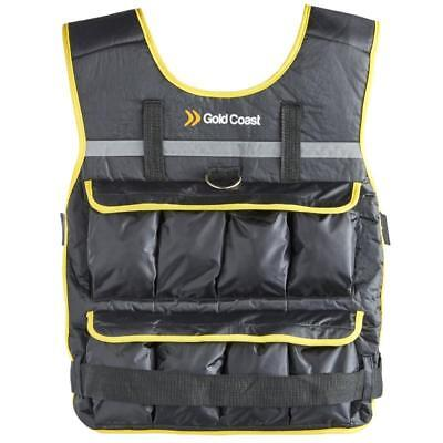 Gold Coast 20Kg Fully Adjustable Weight Training Vest Removable Iron & Sand Bag