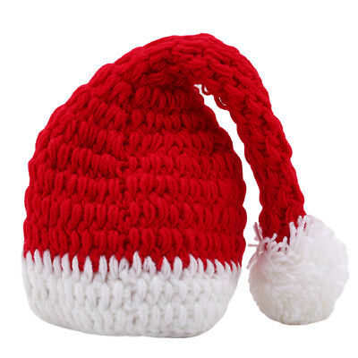 Christmas Clothes Newborn Infant Baby Girl Boy Knitting Pants Hat Cloth Prop 6A