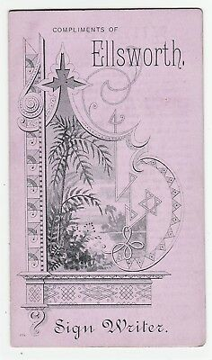RARE Trade Card Booklet- Sign Writer Painter Fire Alarm Box 1875 Grand Rapids MI