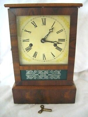 Vintage Wooden ASS Clock- Wind-up,Made in USA- good working order-chimes on hour
