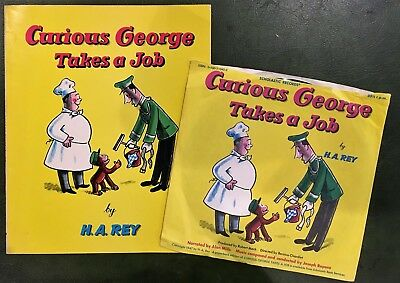 Curious George Takes A Job Vinyl Record & Book