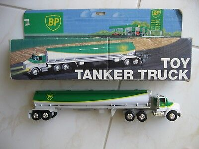 """1991 B P Toy Tanker Truck with Lights & Dual Sound 14"""" Long"""
