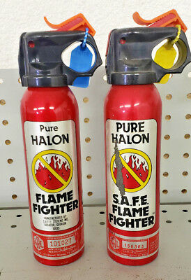 SAFE - Pure Halon Fire Extinguisher - Flamefighter - 1211/1301 1-B:C - Two Pack