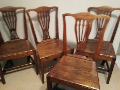 4x georgian dining chairs