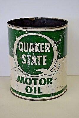 Quaker State Vintage Motor Oil Can 1 gallon