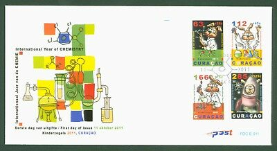 Curacao 2011 - Jugend Internationales Jahr der Chemie Kinderzegels Nr. 57-60 FDC