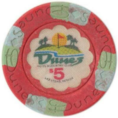(1) Dunes $5 Casino Chip Las Vegas Nevada House Mold Free Shipping *