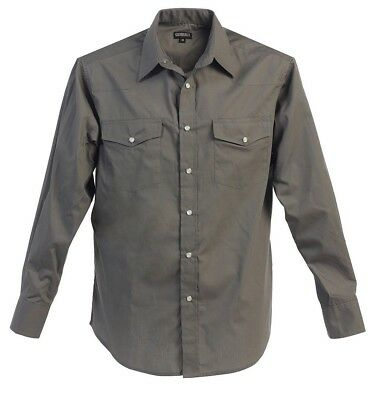 Boys Western Solid Long Sleeve Dress Shirt Pearl Snap Rodeo Kids Size 4 -18 Nwt