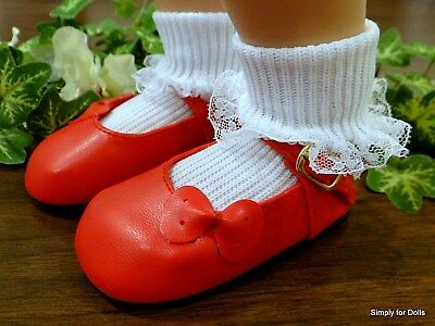 """Debs DK PINK Sidebow Bow Doll Shoes For 23/"""" My Twinn Poseable"""