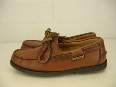 a068efdc2a Mens sz 7.5 M Mephisto Hurrikan Spinnaker Tan Brown Leather Boat Shoes  Comfort