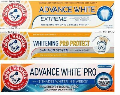 Arm & Hammer Charcoal,Total Pro,Sensitive,ProRepair,Extreme Whitening Toothpaste