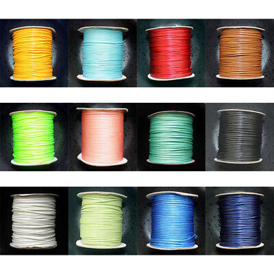 80m/Roll 2mm Waxed Cotton Cord Wire DIY Beading Macrame High Quality