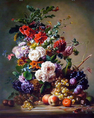 Wall Art HD Canvas Still life Flower Oil Painting Printed on canvas 16''X 20''
