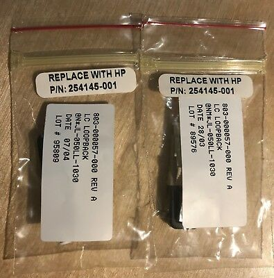 HP PN 254145-001 LC Loopback Connector Lot of 2