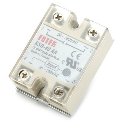 Solid State Relay SSR-40AA 40A AC Relais 80-250V TO 24-380VAC AC SSR Pip