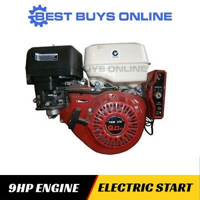 9 HP Petrol Engine Electric Start Stationary Motor Horizontal Shaft OHV