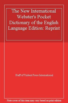 The New International Webster's Pocket Dictionary of the English L .1888777486