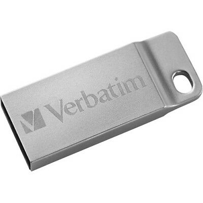 Verbatim 16GB Metal Executive USB Flash Drive - Silver