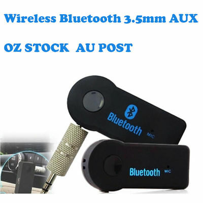 V4.1 Wireless Bluetooth 3.5mm AUX Audio Stereo Music Home Car Receiver Adapter