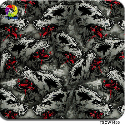 WOLF BIG BAD WOLVES HYDROGRAPHIC WATER TRANSFER FILM HYDRO