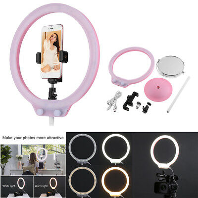 224Pcs LED Ring Lamp Dimmable 5500K Video Continuous Fill Light Light Stand Kit+
