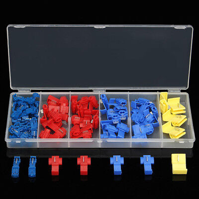 65pcs Electrical Terminal Scotch Lock Quick Splice Side slot Wire Connector Kit