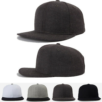 Unisex Mens Womens Plain Solid Snapback Baseball Caps Hiphop K-Pop Style Hats
