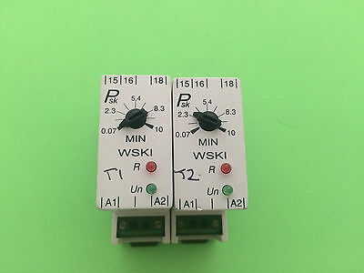 Job lot of 7 x Psk WSKl Relay Switchs VAC 230 VAC  Used CLEARANCE FREE P&P