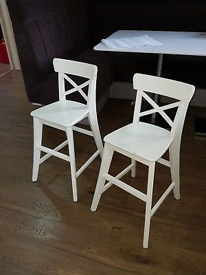 Ikea Ingolf Childrens Junior High Chair Table Seat In White