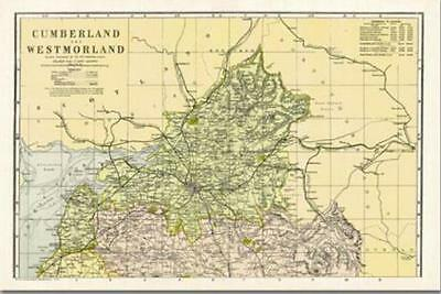 Cumberland & Westmoreland-North(1900):Cassini Historical Map.End Of Stock!