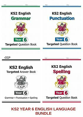 KS2  YR 6 ENGLISH SATs TARGETED BOOKS GRAMMAR SPELLING PUNCTUATION & ANSWERS