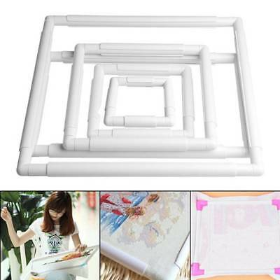 Square Bracket Embroidery Plastic Frame Hoop Cross Stitch Craft DIY Hand Tool FG