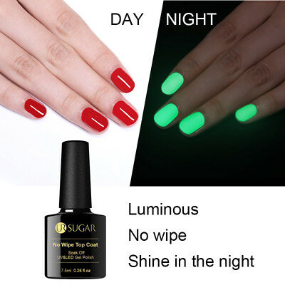 UR SUGAR Nail No Wipe Top Coat Luminous UV Gel Polish Soak off Nail Art Manicure