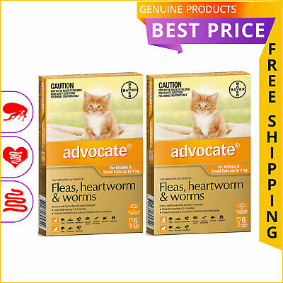 ADVOCATE ORANGE for Cats Upto 4 Kg 12 Doses + 4 Doses FREE by Bayer