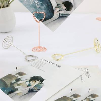 10/12Pcs Photo Card Note Memo Clips Holder Gift Cards Stand Table Wedding Decor