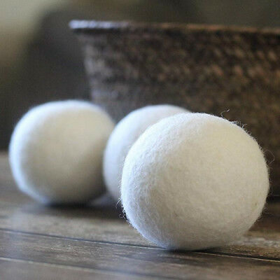 6 Pcs Wool Dryer Balls Drying Fabric Softener Laundry Washing Machine 7cm VT