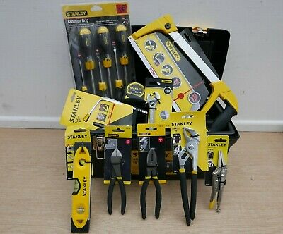 Stanley 16Pce Handymans Tool Set Hacksaws Pliers Tape Screwdrivers Toolbox Etc