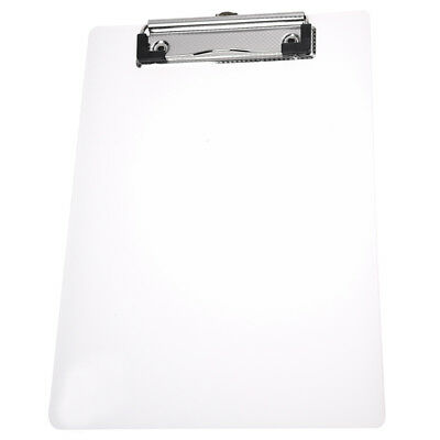 Clipboard Plate Door Translucent Block clip for Paper A5 Office  Q5G3