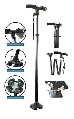 Ultimate Magic Cane with LED Lights -Dependable Folding Cane with Built-In Lighs