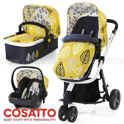Cosatto Giggle 3 In 1 Travel System With Car Seat Pram