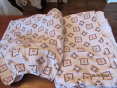 Restoration Hardware Baby & Child Egyptian Twin Flat Fitted Sheet Pink Brown RH