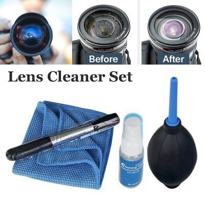 4 in 1 Lens Cleaning Cleaner Dust Pen Blower Cloth Kit For Canon Nikon Lenses
