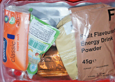 British Army 12 hour Rations camping outdoors MRE Meals Latest issue PD 04/20