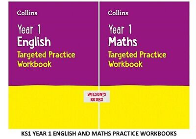 KS1 SATs YEAR 1 MATHS AND ENGLISH PRACTICE WORKBOOKS FROM 2020 ONWARD