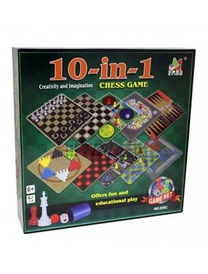 10 In 1 Games Compendium - New! Great Christmas Gift