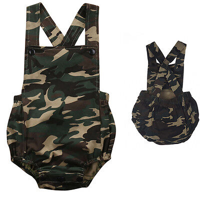 Camouflage Newborn Infant Baby Girl Boy Romper Bodysuit Jumpsuit Sunsuit Outfits