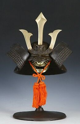 Vintage Japanese Samurai Helmet -Middle Size- with a mask
