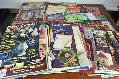 Large Lot of Needlepoint Cross Stitch Magazines Christmas Halloween Crafts 1990s