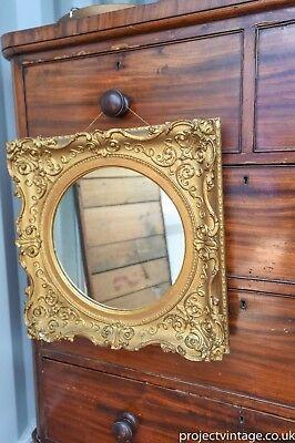 Stunning small  Antique Gilt Gesso Framed Mirror original English c1890